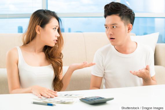 asian couple upset