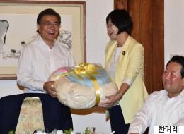 이정미 정의당 대표가 문재인 대통령에게 건넨 선물의 정체