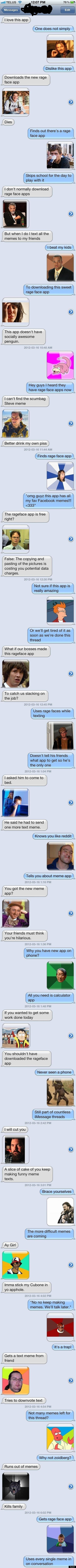 the ultimate meme texting conversation picture huffpost