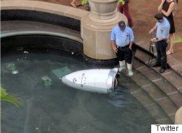 경비 로봇이 물 속에 몸을 던졌다(사진)
