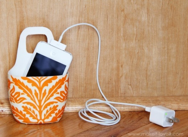 Craft of the day a diy cell phone charging station huffpost Diy cell phone charging station