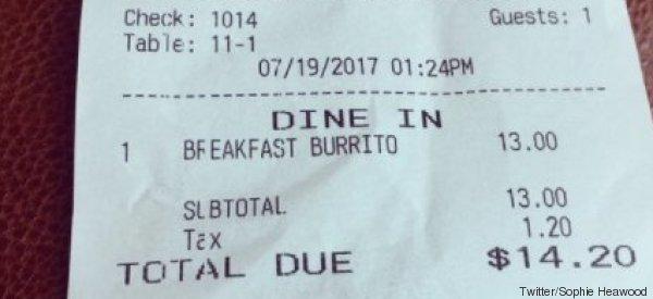 Damit es jeder weiß: Ein Restaurant druckt eine wichtige Botschaft über Migranten auf jede Rechnung