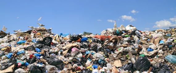 PLASTIC GARBAGE PILE