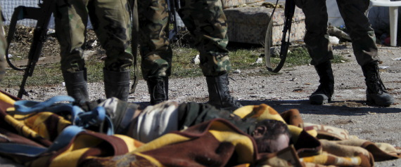 THE BODIES OF FIGHTERS IN DAMASCUS