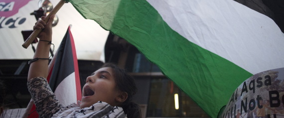 DEMONSTRATIONS IN NEW YORK FOR PALESTINE