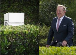المتحدث باسم ترامب يتسلل ليلاً إلى البيت الأبيض لسرقة ثلاجة صغيرة.. هكذا دفع مستخدمي تويتر إلى الجنون!