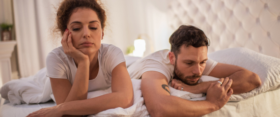 MAN WOMAN BED PROBLEM