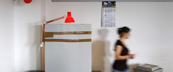 VOTING CABIN IN GERMANY