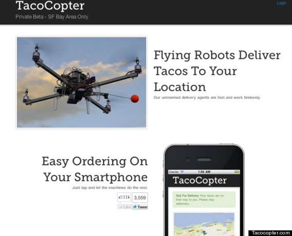 Tacocopter Aims To Deliver Tacos Using Unmanned Drone Helicopters ...