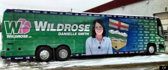 DANIELLE SMITH ALBERTA WILDROSE BUS BREASTS