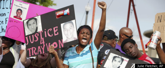 Trayvon martin case protests across nation culminate with show of