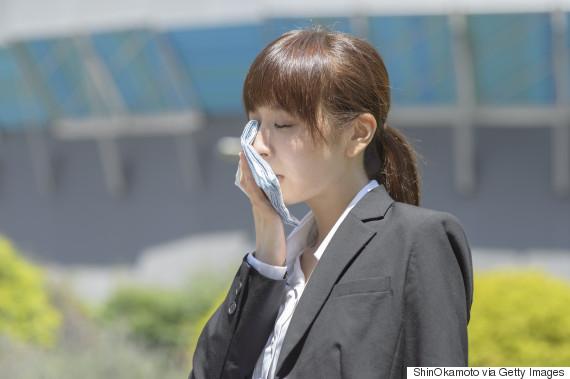 asian sweating