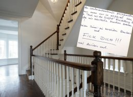 Ein Berliner macht eine Sauerei im Hausflur - dann bekommt er einen hasserfüllten Brief von seinem Nachbarn