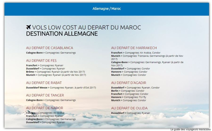 vol low cost allemagne