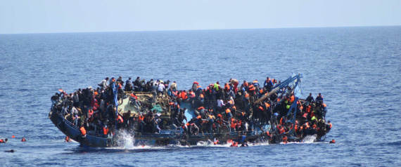 IMMIGRANTS AT SEA