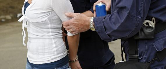 HANDCUFFED WOMAN POLICE
