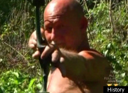 ax men bow and arrow attack puts crew in danger