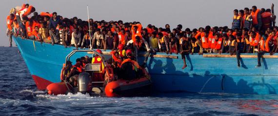 LIBYAN IMMIGRANT BOATS