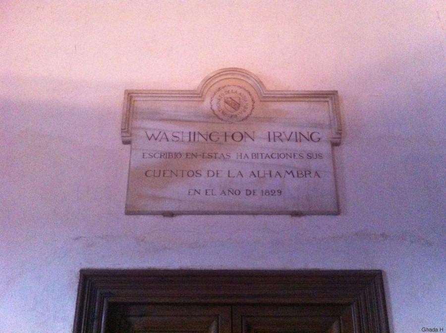 cambre où avait séjourné irving washington