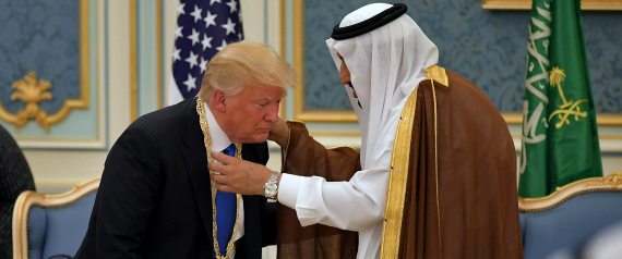 TRUMP AND KING SALMAN