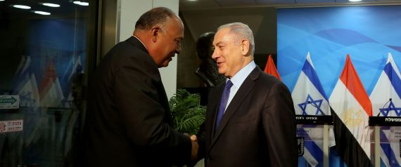 EGYPTIAN FOREIGN MINISTER AND NETANYAHU