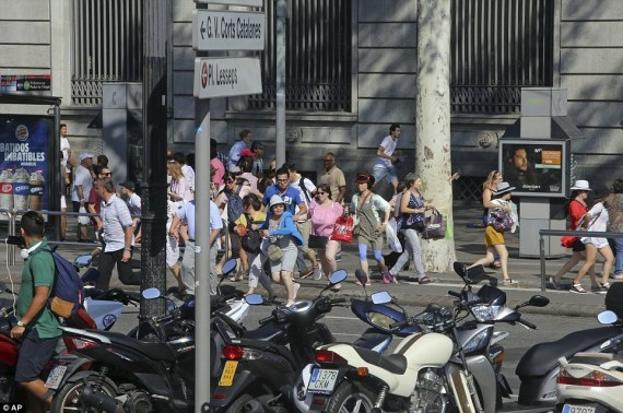 a terrorist incident barcelona