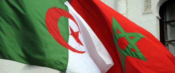 ALGERIA MOROCCO FLAGS