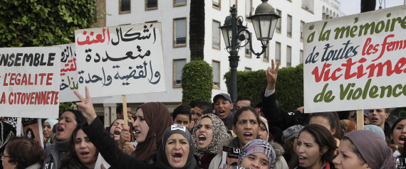 MOROCCO WOMEN PROTEST