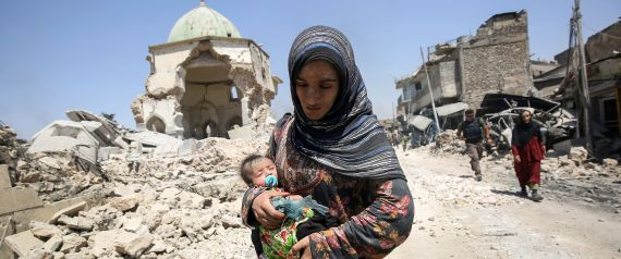 DESTRUCTION IN MOSUL