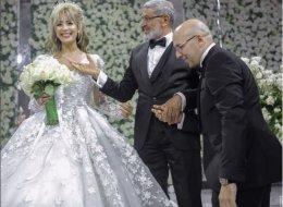 بالصور.. جنات تحتفلُ بزفافها على محامٍ مصري وهذه هديتها له في العرس
