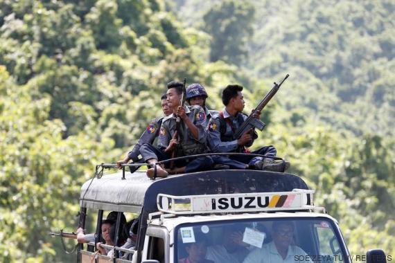 birmanian police