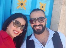 بعد شائعات زواجهما سراً.. سمية الخشاب بصحبة أحمد سعد في تونس: