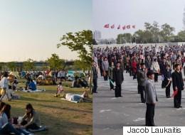 북한과 남한을 모두 여행한 외국인이 찍은 비교 사진 14장
