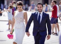 لم يفرقهما اختلاف الجنسية ولا الديانة..الصورة الأولى من زفاف وسام بريدي وريم السعيدي