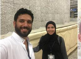 4 صور: دنيا وإيمي سمير غانم مع زوجيهما بملابس الإحرام