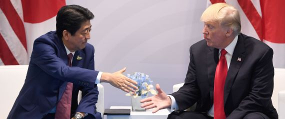 TRUMP AND PRIME MINISTER OF JAPAN