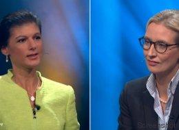 Sahra Wagenknecht fragt Alice Weidel nach Nazis in der AfD - und bringt sie zu einer absurden Aussage