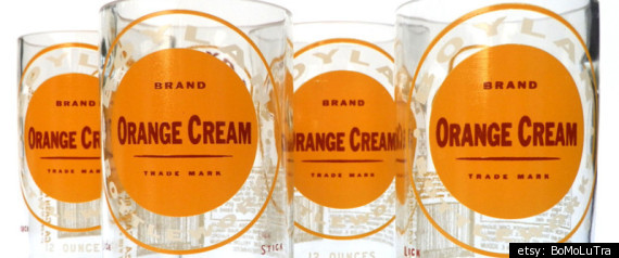 Boylan Orange Cream Soda Glasses