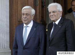 Η θεσμική εμβάθυνση της ΕΕ στο επίκεντρο της συνάντησης  Παυλόπουλου με τον Ιταλό ομόλογό του Ματαρέλα