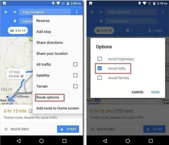 تحديد مكان ركْن السيارة.. ورحلاتك السابقة.. حيل بسيطة لاستخدامٍ أفضل لـ Google Maps O-S-570