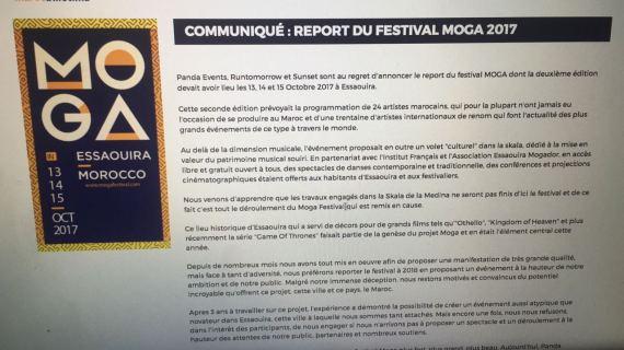 report festival moga communique