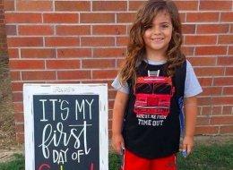 Dieser Junge darf nicht in die Schule gehen - weil er SO am ersten Tag auftauchte