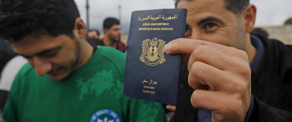 SYRIAN PASSPORT AS REFUGEES