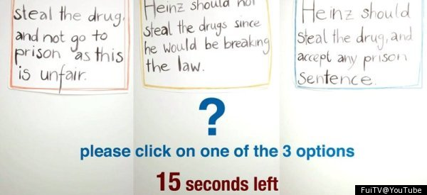 heinz dilemma This cleverly conceived and beautifully executed interactive video by carlo pisani, andres jud, and maria stalder offers a simplified version of the heinz dilemma to test for moral development by.