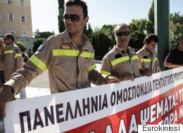 Συγκέντρωση των συμβασιούχων πυροσβεστών στο Σύνταγμα