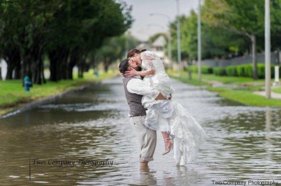 mariage tempête harvey