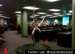 Pole Dancing Toronto City Hall