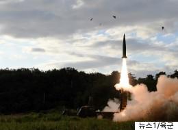 현무-2 미사일 두 발 중 한 발이 추락했다