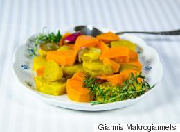 Συνταγή για γλυκοπατάτες φούρνου αρωματισμένες με δεντρολίβανο