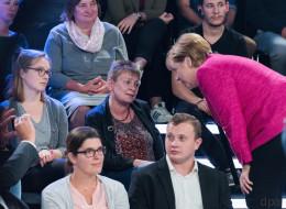Im ZDF hat eine Putzfrau Merkel die Meinung gegeigt - das sagt sie hinterher über den Moment